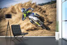 Fotomural Motocross, a $69.000 el metro cuadrado.