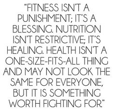 Fitness isn't a punishment