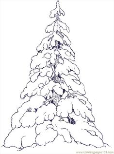 Snow Covered Evergreen for colouring in! Christmas Coloring Pages, Coloring Book Pages, Christmas Colors, Christmas Art, Snow Covered Trees, Snowy Trees, Illustration Noel, Christmas Drawing, Theme Noel