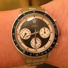 """""""Enjoying my Monday with Rolex Daytona 6241 Paul Newman """""""