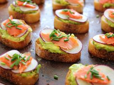 Avocado and Salmon Crostini recipe