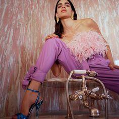Attico Spring 2019 Ready-to-Wear Fashion Show Collection: See the complete Attico Spring 2019 Ready-to-Wear collection. Look 6 Fashion Week, World Of Fashion, Runway Fashion, Spring Fashion, High Fashion, Purple Fashion, Fashion Story, Vogue Paris, Wordpress