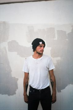 Beanie white shirt tumblr Style men beard