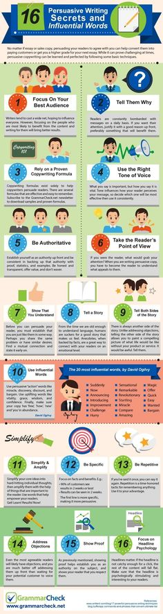 16 Persuasive Writing Secrets & Influential Words (Infographic)