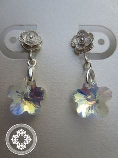 Flower Girl Earrings AB Swarovski Flower Crystal by JewlesDesigns, $24.00