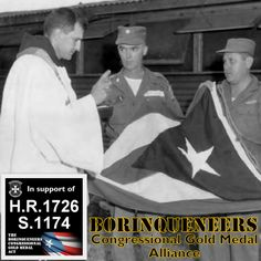 """A national, non-partisan, volunteer group dedicated to achieving the Congressional Gold Medal for the 65th Infantry Regiment, """"The Borinqueneers""""! http://www.freedomdisplaycases.com/federal-shadow-box-smaller-flag.html"""