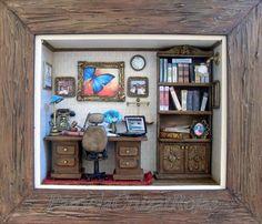Despacho Abogado con miniaturas hecho a pedido.