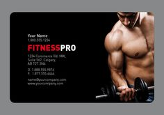 Same trainer or gym business card by Arc Reactions  www.arcreactions.com