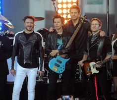 """Nick Rhodes Photos Photos - Member of the group Duran Duran Simon LeBon, Roger Taylor,  John Taylor and Nick Rhodes perfom on stage duing Duran Duran performs on NBC's """"Today"""" at Rockefeller Plaza on September 17, 2015 in New York City. - Duran Duran Perform on NBC's 'Today'"""
