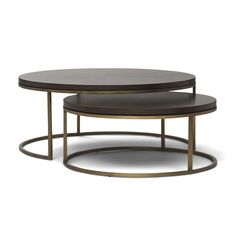 """BASSEY NESTING COCKTAIL TABLE<BR>[available online and in stores]  Gold Williams 35""""dia large 28""""dia small"""