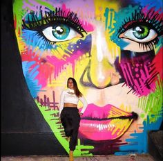 Danielle Mastrion poses with her work in Brooklyn, New York. 2014 (LP)