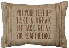 Put Your Feet Up Linen Pillow