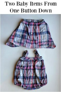 Feather's Flights: A Sewing Blog: Upcycle: Shirt to Baby Romper