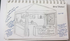 Sketch out your craft booth ideas to make sure your plans will work