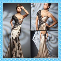 Wholesale Custom Made 2013 Evening Dress Mermaid One Shoulder Short Sleeve Lace Applique Party Dresses, Free shipping, $132.16-147.84/Piece   DHgate
