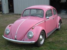 Pink VW Bug Beetle ☆ Girly Cars for Female Drivers! Love Pink Cars ♥ It's the dream car for every girl ALL THINGS PINK #vw #bug #pink