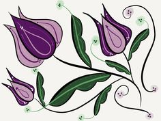 #Purple #kurbits #modern #swedish #folkart #paperby53