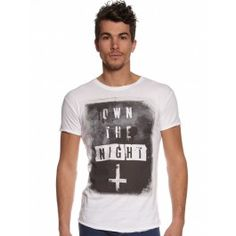 MENS WHITE OWN THE NIGHT T-SHIRT by DEATH BY ZERO