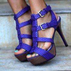 Platform Buckle Stiletto Heel Sandals