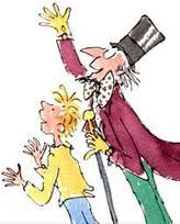 Charlie and the Chocolate Factory is 50 years old (first published in US in 1964), so here's one of Quentin Blake's illustrations for Roald Dahl's children's classic. We usually have a copy of the book in the Bookshop, and we always have lots of chocolate!