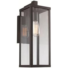 Check out the Trans Globe Lighting 40751-BK Pocket 1 Light Down Medium Wall Lantern in Black priced at $112.10 at Homeclick.com.