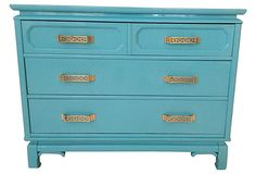 Turquoise Chest w/ Gilt Brass Pulls on OneKingsLane.com