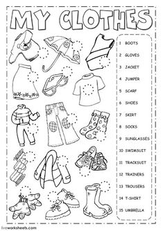 The clothes - Listening Language: English Grade/level: Elementary School subject: English as a Second Language (ESL) Main content: Clothes Other contents: clothing English Activities For Kids, Learning English For Kids, English Lessons For Kids, Kids English, Learn English, English Class, English English, Spanish Activities, French Lessons