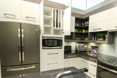 Home - Pioneer Cabinetry Kitchen Display, Kitchen Cabinets, Kitchen Appliances, French Door Refrigerator, Showroom, New Homes, Decorating, Modern, Home Decor