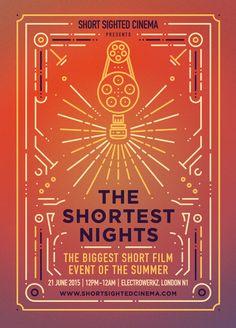 The Shortest Nights by Short Sighted Cinema #moreshortfilm #shortfilm #design#graphic #poster