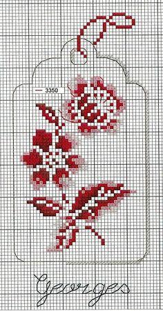 e In grassetto FIORI Black Cats cross stitch chart
