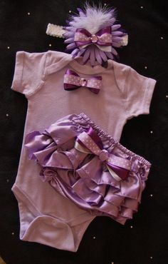 NEWBORN baby girl take me home outfit purple by BeBeBlingBoutique