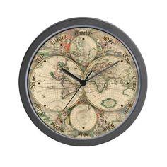 Large atlas pendulum wall clock wall clocks large and clock 1689 world map wall clock gumiabroncs Image collections