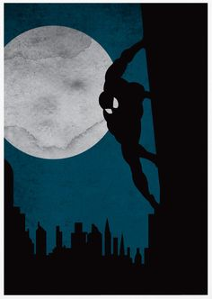 Spiderman Poster A3 Print by sanasini on Etsy, $18.00