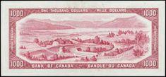 "1954 $1000 Canadian Dollar bill - ""Devil's Head"" series, Bank of Canada Canadian Coins, Canadian Dollar, Canadian History, 1000 Dollar Bill, One Dollar, Canadian Confederation, Canada States, Coins Worth Money"