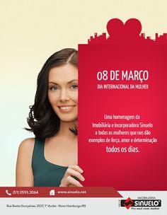 Anúncio Dia da Mulher Sinuelo. #ad