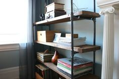 How to Make a Freestanding Industrial Pipe Bookcase | eHow Home