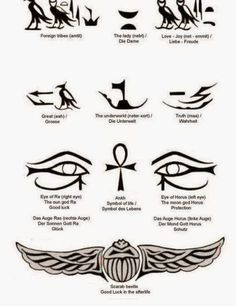 Ideas Eye Tattoo Egyptian Symbols For 2019 Ankh Tattoo, Anubis Tattoo, Egyptian Symbol Tattoo, Osiris Tattoo, Egyptian Eye Tattoos, Egyptian Tattoo Sleeve, Egyptian Symbols, Symbol Tattoos, Body Art Tattoos