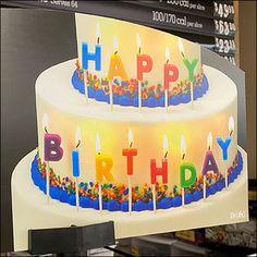 Walmart Cakes, Binder Decoration, Birthday Display, Ring Cake, Candle Store, Happy Birthday, Birthday Cake, Store Fixtures, Cake Images