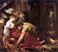 Peter Paul Rubens Samson and Delilah, , National Gallery, London. Read more about the symbolism and interpretation of Samson and Delilah by Peter Paul Rubens. Baroque Painting, Baroque Art, Painting Frames, Painting Prints, Modern Baroque, Peter Paul Rubens, Rembrandt, Pedro Pablo Rubens, Rubens Paintings