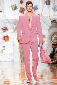 Versace Menswear Spring Summer 2015 Milan - NOWFASHION