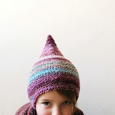 raindrop hat -- increase/scallop the edge to make a splash effect :-D