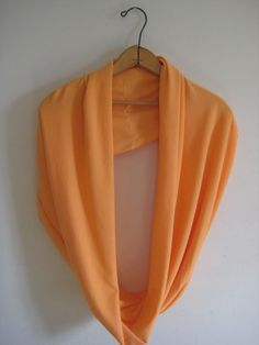 Infinity Scarf Scarf Orange by LACollective on Etsy   #Handmade #Spring #Summer #Sunshine #SouthCarolina