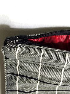 large #quilted #patchwork zipper #clutch #Etsy #olivebrown #buyHandmade
