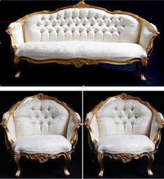 ascot three piiece suite ornate gold leaf italian style furniture