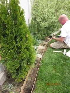 Our Adventures in Home Improvement: DIY Curbing for the Backyard