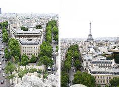 Paris view from Arc de Triomphe by Farfelue, via Flickr