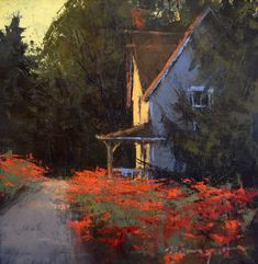 """Romona Youngquist, """"Country Cottage"""" 12x12"""