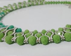 St Patricks Day Necklace Green Necklace Gift Women Beaded Necklace Statement Necklace Spring Jewelry Moms Gift Necklace Bead Jewelry