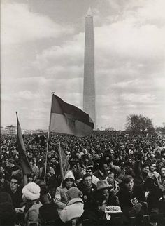 David Fenton, Protester Waves the Viet Cong Flag, Moratorium Against the War March, Washington, D.C. 1969, Vintage gelatin silver, printed 1969  Signed by photographer verso