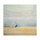 size: Giclee Print: Fisherman Catching Mussels, 1891 by Jan Toorop : Beach Landscape, Cool Posters, Claude Monet, Vincent Van Gogh, Find Art, Framed Artwork, Giclee Print, Scenery, Poster Prints